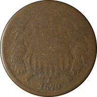 1870 TWO 2 CENT PIECE  GREAT DEALS FROM THE EXECUTIVE COIN COMPANY - BB2CN1093