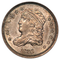 1836 LARGE 5C CAPPED BUST HALF DIME LM-1.2 H10C NGC MINT STATE 62 CAC