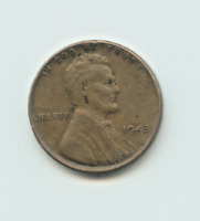1945 P LINCOLN PENNY, CIRCULATED, ONE CENT COIN
