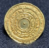 FATIMID ISLAMIC GOLD DINAR COIN AUTHENTIC IN MISR 355 AH ALMUIZZ 4.2G