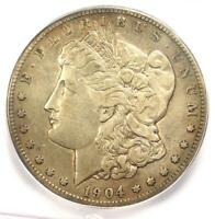 1904-S MORGAN SILVER DOLLAR $1 - ICG EXTRA FINE 40 DETAILS-  DATE CERTIFIED COIN