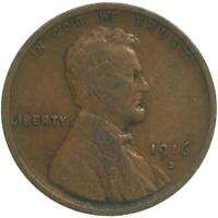 1916 D LINCOLN WHEAT CENT FINE PENNY FN