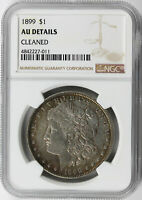 1899 $1 MORGAN DOLLAR NGC AU DETAILS CLEANED