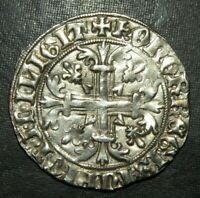 MEDIEVAL COIN CRUSADER CROSS GOTHIC LARGE SILVER ANCIENT ANT