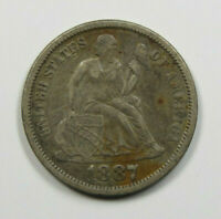 1887 SEATED LIBERTY DIME US COIN