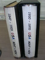 US EXCELLENT STAMP COLLECTION MOUNTED IN A 2 VOLUME MINKUS A