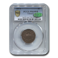 1873 TWO CENT PIECE PR-64 PCGS CAC RED/BROWN, CLOSED 3 - SKU200534
