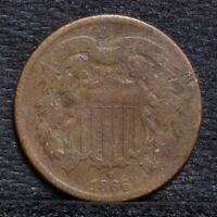 1866 TWO CENT PIECE - AG 25553