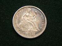 1883 SEATED LIBERTY DIME - VAR. 4 - LEGEND OBV. - HIGH END -