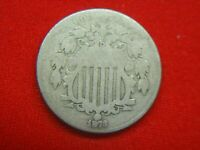 1873 UNITED STATES SHIELD NICKEL - OPEN