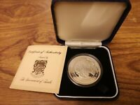 1982 TUVALU SILVER PROOF $10 TEN DOLLARS COIN : 35G : ROYAL