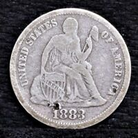 1883 SEATED LIBERTY DIME - VG DETAILS 25682