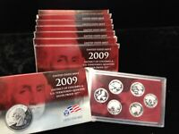8 SET LOT OF SILVER 2009 S ORIGINAL PROOF TERRITORIES QUARTE