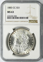 1883-CC $1 MORGAN DOLLAR NGC MINT STATE 63