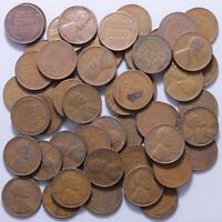 1940 D LINCOLN WHEAT CENT ROLL 50 CIRCULATED PENNIES US COINS