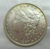 1887 MORGAN SILVER DOLLAR GREAT COLOR & EYE APPEAL HIGHER GRADE SHIPS FREE