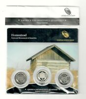 2015   QUARTERS 3 COIN SET HOMESTEAD NATIONAL MONUMENT  I122