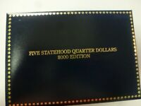 5 STATEHOOD QUARTERS 2000 EDITION GOLD PLATED