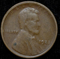 1923 S LINCOLN WHEAT CENT, PENNY, GOOD CONDITION, SHIPS FREE IN USA, C4466