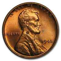 1945 LINCOLN CENT BU RED - SKU9832