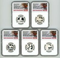 2018 S SILVER QUARTERS 25C SET LIMITED EDITION NGC PF70 EARL