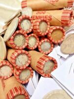 SILVER BARBER DIMES ROLL OLD VINTAGE WHEAT CENTS LINCOLN PENNY COIN COLLECTIONS