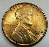 1936-S, 1936-D, 1937-D - LINCOLN WHEAT CENT - 3 RED BU - LOWER MINTAGE COINS
