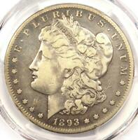 1893-S MORGAN SILVER DOLLAR $1 - CERTIFIED PCGS FINE DETAILS -  KEY COIN