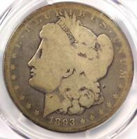 1893-S MORGAN SILVER DOLLAR $1 - PCGS G4 GOOD -  KEY DATE CERTIFIED COIN