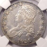 1824/4 CAPPED BUST HALF DOLLAR 50C O 109   NGC XF DETAILS  EF     COIN