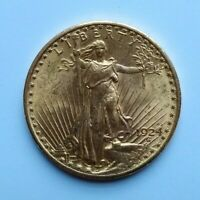 1924 SAINT GAUDENS $20 GOLD DOUBLE EAGLE XF GOLD COIN