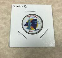 2001 D NEW YORK COLORIZED CLAD STATE QUARTER