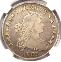 1803 DRAPED BUST SILVER DOLLAR $1 - CERTIFIED NGC VF DETAILS -  COIN