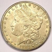 1901-S MORGAN SILVER DOLLAR $1 - EXCELLENT CONDITION -  LUSTER -  DATE
