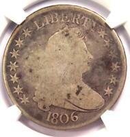 1806 DRAPED BUST HALF DOLLAR 50C COIN - CERTIFIED NGC G6 GOOD -  COIN