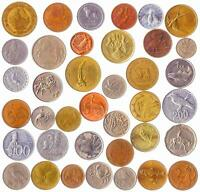 10 DIFFERENT COINS WITH ANIMALS BIRDS BEETLES FISHES CRUSTACEANS INSECTS