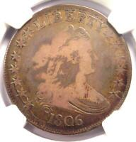 1806 DRAPED BUST HALF DOLLAR 50C COIN - CERTIFIED NGC VG10 -  COIN