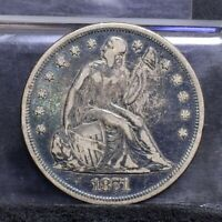 1871 LIBERTY SEATED DOLLAR - FINE DETAILS 26738