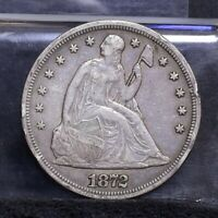 1872 LIBERTY SEATED DOLLAR - VF DETAILS 26739
