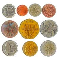 10 GHANA COINS 5 PESEWA   1 CEDI OLD COLLECTIBLE CURRENCY FROM WEST AFRICA MONEY