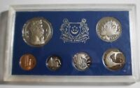 SCARCE 1974 SINGAPORE 6 COIN SET MINTAGE 1500 PLASTIC CASE P