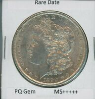 1890 S MORGAN DOLLAR $1 US MINT  DATE GEM PQ SILVER COIN 1890-S MS
