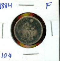1884 UNITED STATES SEATED LIBERTY DIME 10C COIN EP441