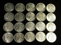1883-1904 MORGAN SILVER DOLLAR ROLL 20 CHAU - UNCIRCULATED  BLAST WHITE L1