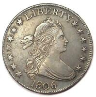 1806 DRAPED BUST HALF DOLLAR 50C O-109 - AU DETAILS CONDITION -  EARLY COIN