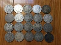 ROLL OF PRE 1904 MORGAN SILVER DOLLAR COINS 90 LOT FACE