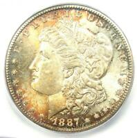 1887-S MORGAN SILVER DOLLAR $1 - CERTIFIED ICG MINT STATE 64 PLUS GRADE - $750 VALUE
