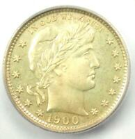 1900 PROOF BARBER QUARTER 25C COIN - CERTIFIED ICG PR64 PF64 - $1,020 VALUE