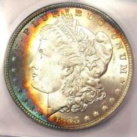 1883-P MORGAN SILVER DOLLAR $1 RAINBOW 1883. ICG MINT STATE 66 PLUS GRADE - $500 VALUE