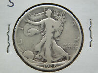 1928 S WALKING LIBERTY HALF DOLLAR SMALL S VARIETY 90 SILVER VG  GOOD